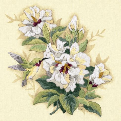 Hibiscus Crewel Embroidery Kit