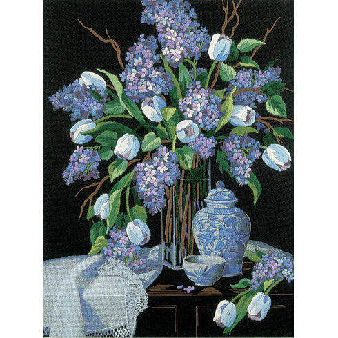 Lilacs And Lace Embroidery Kit