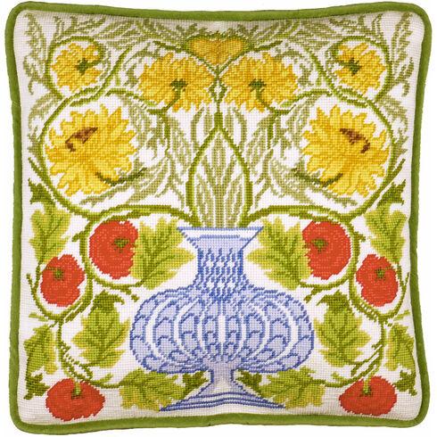 Vase Of Roses Tapestry Panel Kit