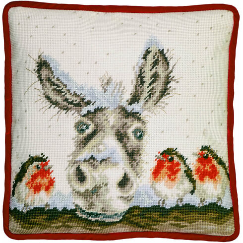 Christmas Donkey Tapestry Panel Kit