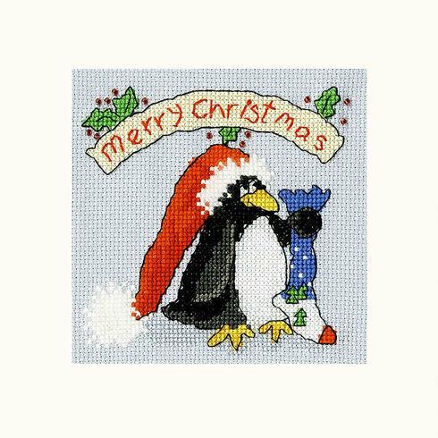 PPP Please Santa Cross Stitch Christmas Card Kit