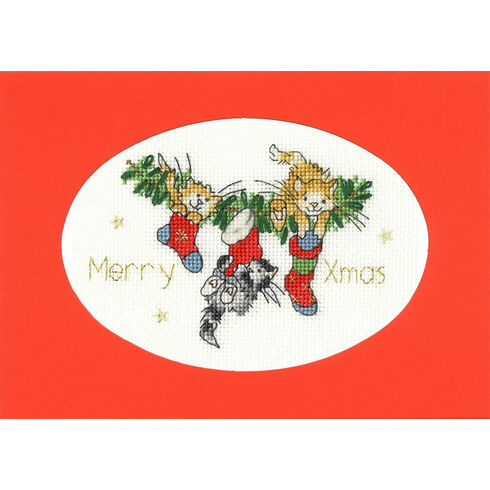 Stocking Fillers Cross Stitch Christmas Card Kit