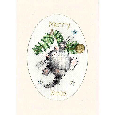 Swing Into Xmas Cross Stitch Christmas Card Kit