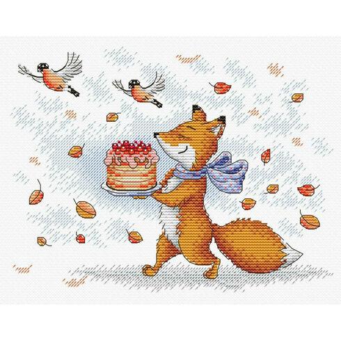 Preparing To Celebrate Fox Cross Stitch Kit
