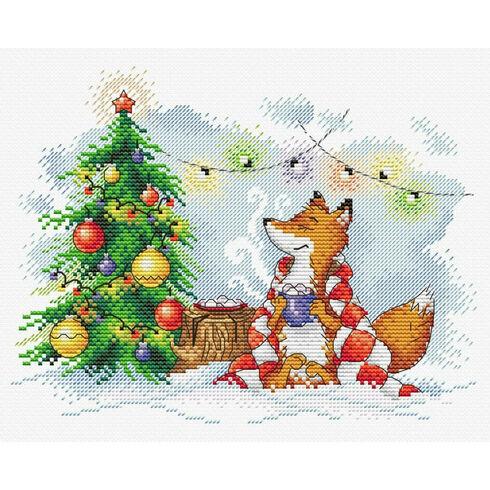 Christmas Lights Fox Cross Stitch Kit