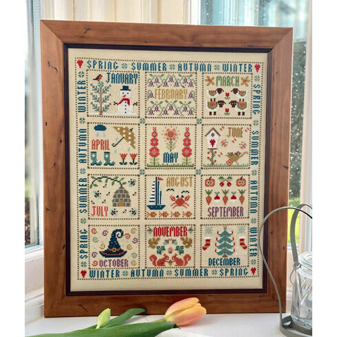 Our Year Sampler Cross Stitch Kit