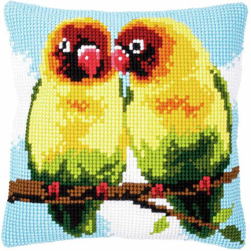 Lovebirds Chunky Cross Stitch Cushion Panel Kit