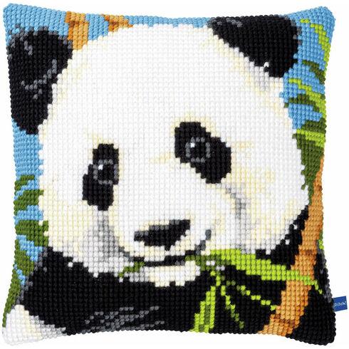 Panda Chunky Cross Stitch Cushion Panel Kit