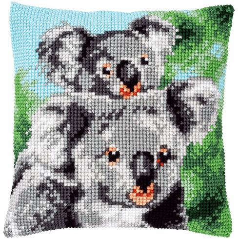 Koala With Baby Chunky Cross Stitch Cushion Panel Kit
