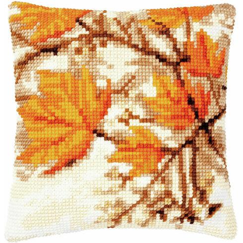 Autumn Leaves Chunky Cross Stitch Cushion Panel Kit