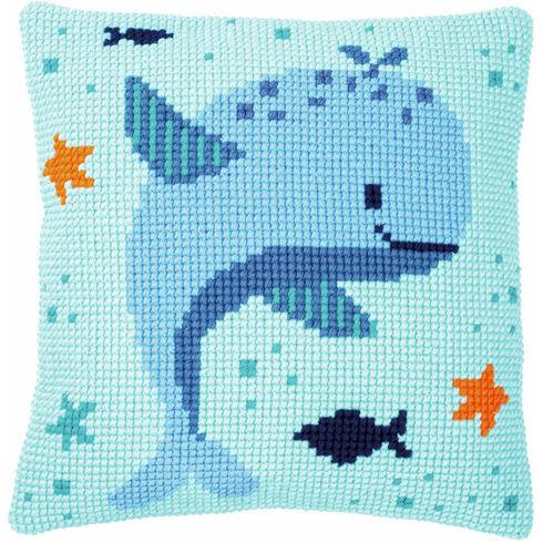Whales Fun Chunky Cross Stitch Cushion Panel Kit
