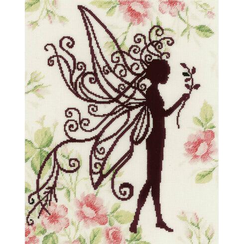 Flower Fairy Silhouette 1 Cross Stitch Kit