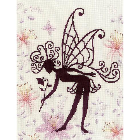 Flower Fairy Silhouette 2 Cross Stitch Kit