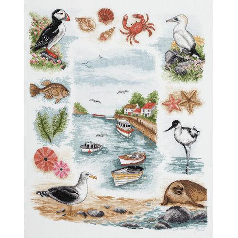 Coastal Sampler Cross Stitch Kit
