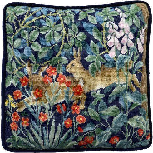 Greenery Hares Cushion Panel Tapestry Kit