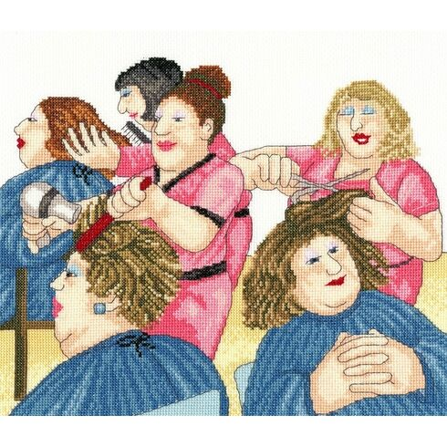 Hair With Flair Beryl Cook Cross Stitch Kit