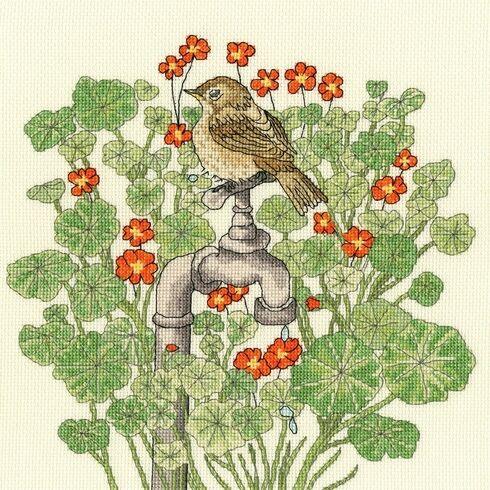 Nasturtium Garden Cross Stitch Kit
