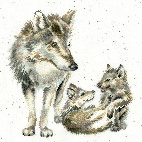 Wolf Pack Cross Stitch Kit