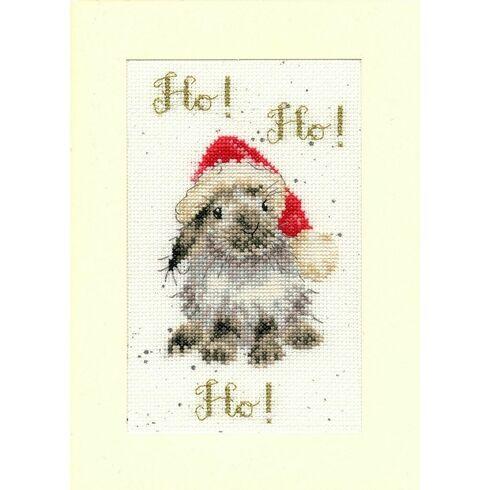 Ho! Ho! Ho! Cross Stitch Christmas Card Kit