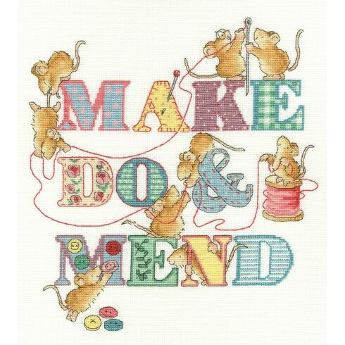 Make Do And Mend Cross Stitch Kit