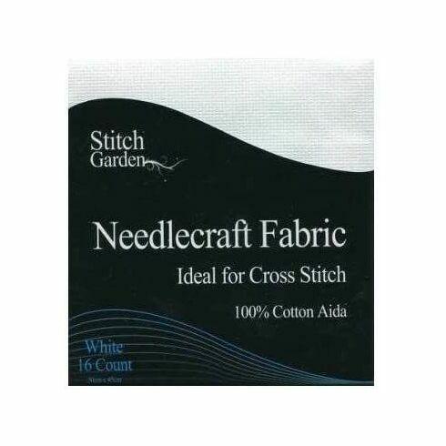 Stitch Garden White Aida Fabric Pack (45 x 30cm)