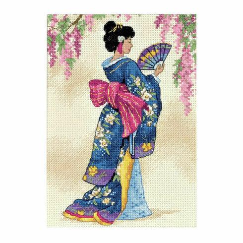Elegant Geisha Cross Stitch Kit
