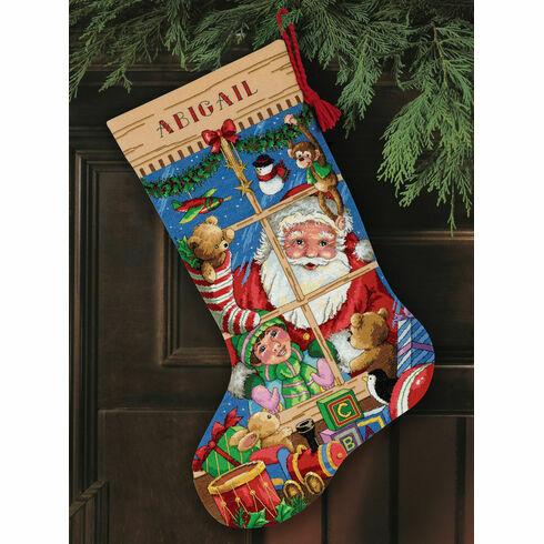 Santa's Toys Stocking Cross Stitch Kit