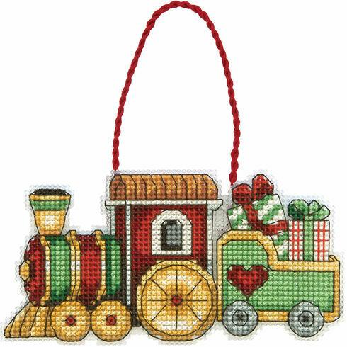Train Ornament Cross Stitch Kit