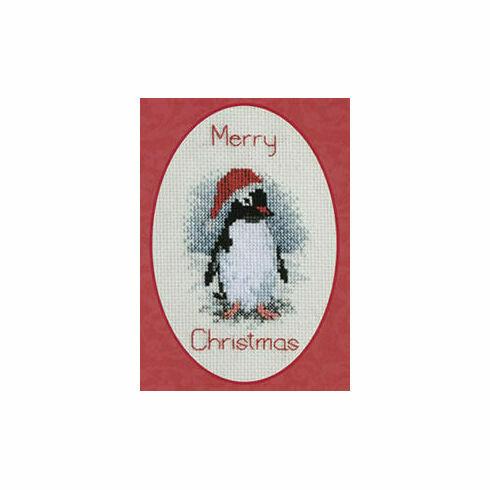 Penguin Christmas Card Cross Stitch Kit