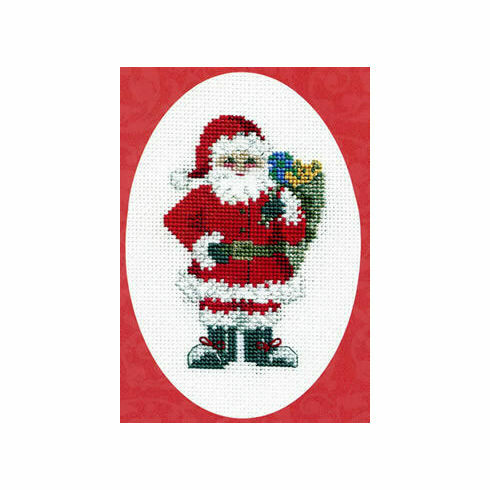 Santa's Sack Christmas Cross Stitch Card Kit