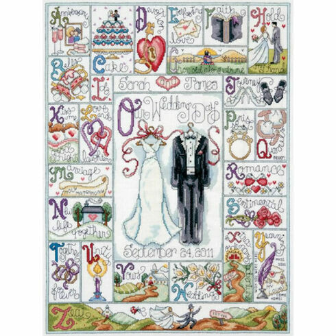 Wedding ABC Cross Stitch Kit