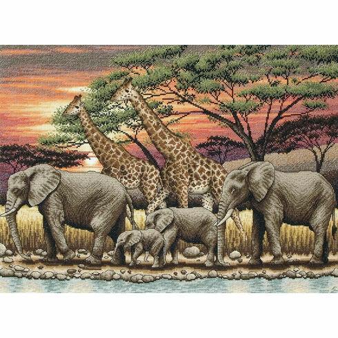 African Sunset Cross Stitch Kit