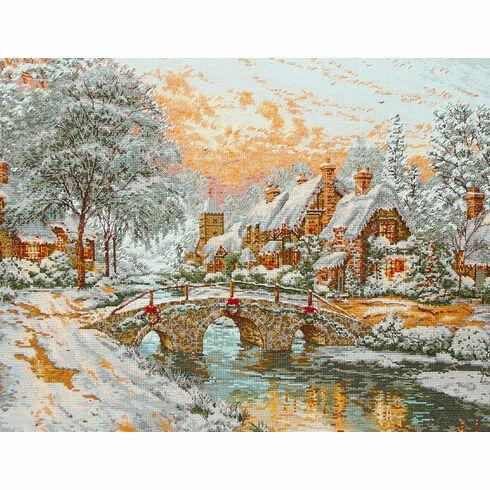 Cobblestone Christmas Cross Stitch Kit