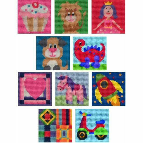 Anchor 1st Pack Of 10 Mixed Tapestry Kits For Kids