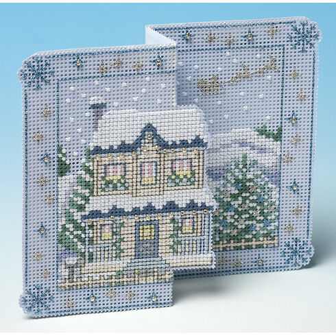 Winter Wonderland Deluxe 3D Christmas Card Cross Stitch Kit