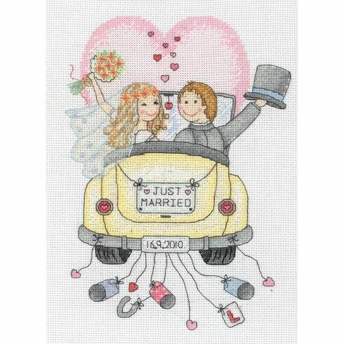 Just Married Cross Stitch Kit