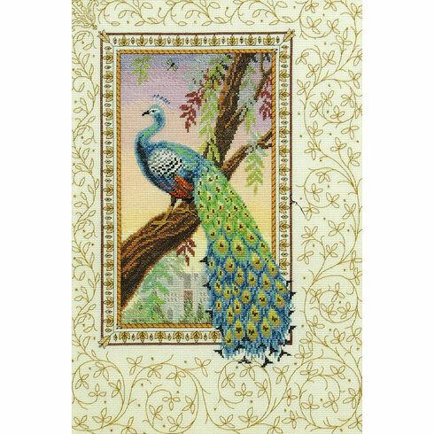 Renaissance Peacock Cross Stitch Kit