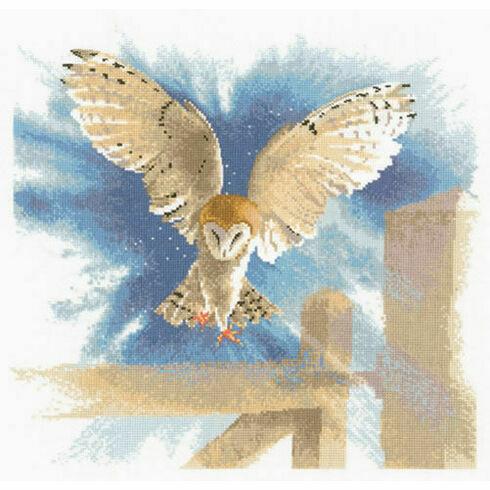 Owl in Flight Cross Stitch Kit