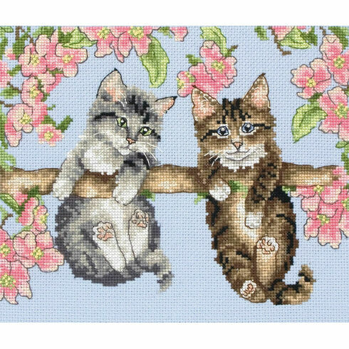 Hanging Around Kittens Cross Stitch Kit