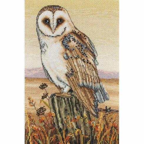 Owl Horizon Cross Stitch Kit