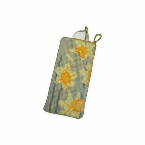 Daffodils Light Tapestry Glasses Case Kit