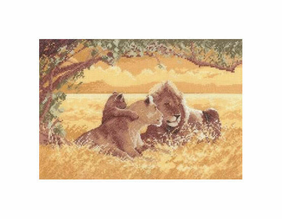 Lions Cross Stitch Kit