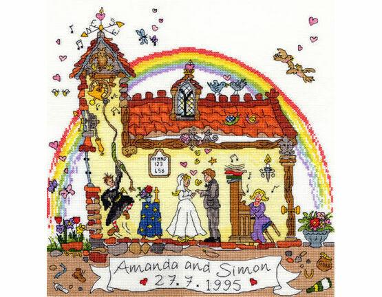 Cut Thru\' Wedding Cross Stitch Kit