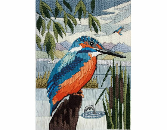 Kingfisher Long Stitch Kit