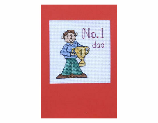 No. 1 Dad Cross Stitch Card Kit