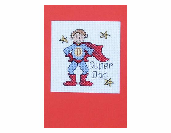 Super Dad Cross Stitch Card Kit