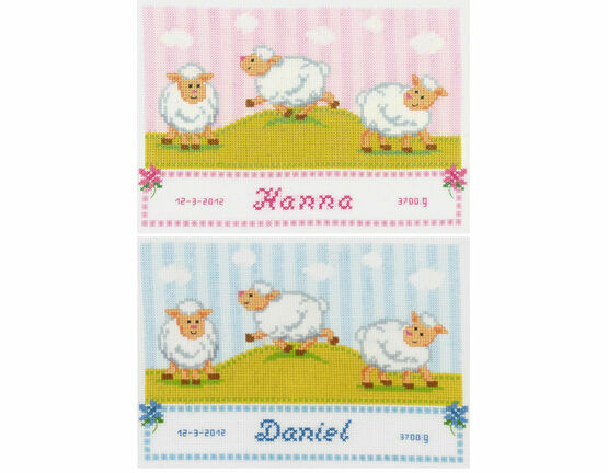Counting Sheep Birth Sampler Cross Stitch Kit