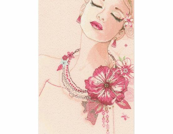 Camellia Corsage Cross Stitch  Kit
