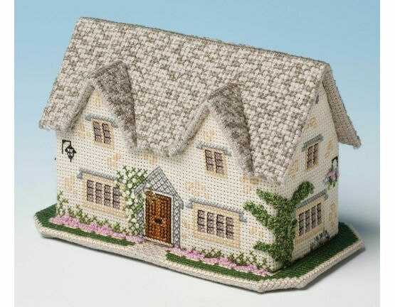 Windrush Cottage 3D Cross Stitch Kit