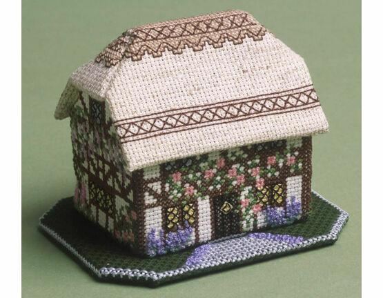 Foxglove Cottage 3D Cross Stitch Kit